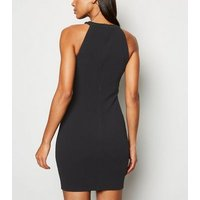 AX Paris Black Button Trim Bodycon Dress New Look