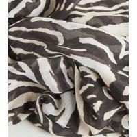 Brown Tiger Print Longline Scarf New Look