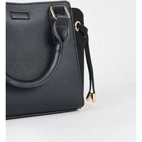 Black Leather-Look Tote Bag New Look