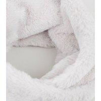 Grey Teddy Faux Fur Snood New Look