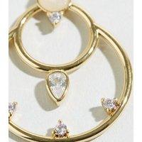 Affinity Gold Rose Quartz Circle Earrings New Look
