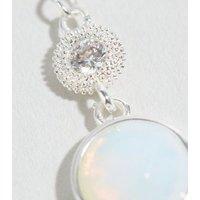 Affinity Silver Moonstone Drop Earrings New Look