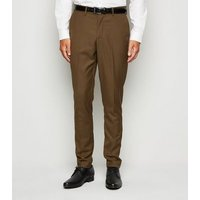 Camel Suit Trousers New Look