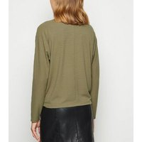Khaki Brushed Batwing Turtle Neck Jumper New Look