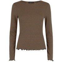 Brown Stripe Long Sleeve Top New Look