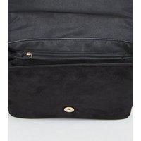 Black Ring Front Shoulder Bag New Look Vegan