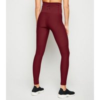 GymPro Burgundy Seamless High Waist Sports Leggings New Look