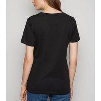 Black IT Clown Print Halloween T-Shirt New Look