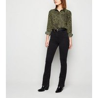 Green Leopard Print Shirt New Look