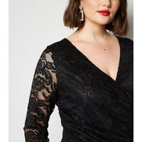 Curves Black Lace Mini Dress New Look