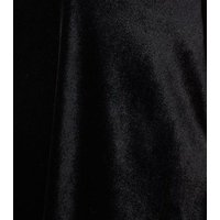 Curves Black Velvet Mini Dress New Look