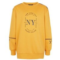 Girls Mustard NYC Circle Logo Sweatshirt New Look