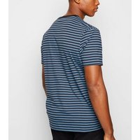 Navy Stripe Crew T-Shirt New Look