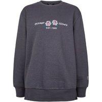 Girls Dark Grey Chicago Illinois Slogan Sweatshirt New Look