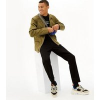Black Plain Straight Leg Jeans New Look