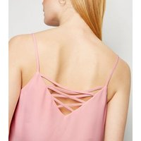 Pink Lattice Back Cami New Look