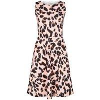 Missfiga Pink Leopard Print Skater Dress New Look