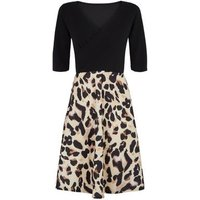 Missfiga-Brown-Leopard-Print-Skirt-Skater-Dress-New-Look