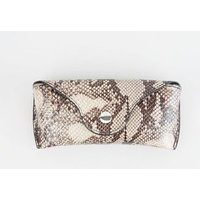 Brown Faux Snake Hard Sunglasses Case New Look