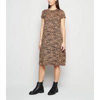 Maternity Black Leopard Print Swing Dress New Look