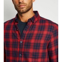 Red Check Long Sleeve Cotton Shirt New Look