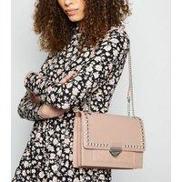 Pale Pink Stud Cross Body Bag New Look Vegan