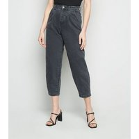 Black Washed Slouch Nia Balloon Leg Jeans New Look