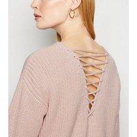 Pale Pink Lattice Back Jumper New Look