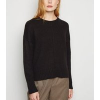 Black Exposed Seam Jumper New Look