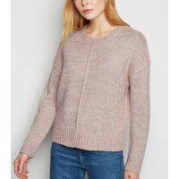 Pale Pink Exposed Seam Jumper New Look
