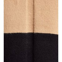 Brown Colour Block High Neck Jumper New Look