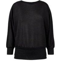 Black Fine Knit Batwing Jumper New Look