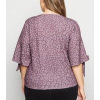 Just Curvy Purple Leopard Print Top New Look