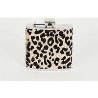 Gold Glitter Leopard Print Hip Flask New Look