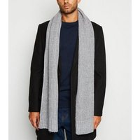 Pale Grey Chunky Knit Scarf New Look