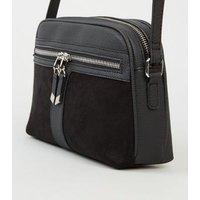 Black Zip Camera Bag New Look Vegan