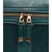 Teal Zip Camera Bag New Look Vegan