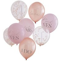 Ginger Ray Multicoloured Mixed Hen Party Balloons New Look