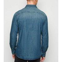 Men's Only & Sons Bright Blue Denim Shirt New Look