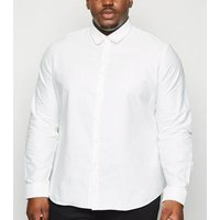 Plus Size White Long Sleeve Oxford Shirt New Look
