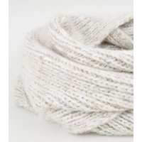 Off White Knit Space Dye Snood New Look