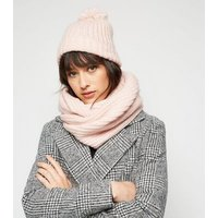 Pink Knit Snood New Look