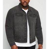 Plus Size Grey Denim Jacket New Look