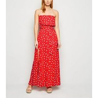 Red-Ditsy-Floral-Maxi-Beach-Dress-New-Look