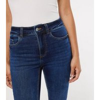 Blue Rinse Wash Mid Rise India Super Skinny Jeans New Look