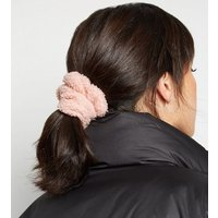 2 Pack Grey Teddy Scrunchies New Look
