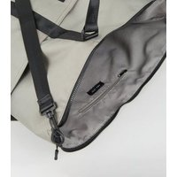 Grey Sports Holdall Bag New Look