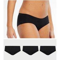 3 Pack Black Seamless Short Briefs New Look