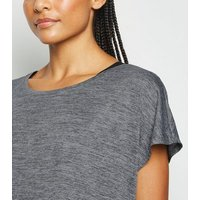 Dark Grey Marl Sports T-Shirt New Look