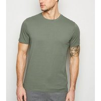 Olive Crew Neck T-Shirt New Look